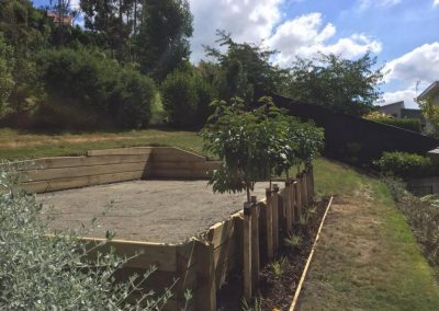 willow-landscapes-hill-side-lawn-prep-wooden-retainer-walls-carl-gildea-christchurch